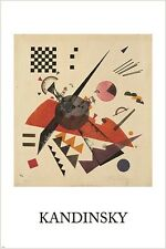 VASILY KANDINSKY orange VINTAGE PAINTING art poster RUSSIAN 24X36 abstract