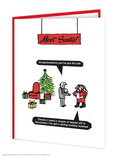 Modern Toss Tarjetas de Navidad Gracioso Gracioso Humor Cheeky divertida comedia de dibujos animados