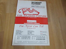 SOLDIERS Fortune & Never Can Tell Comedies NOTTINGHAM Playhouse Theatre Poster