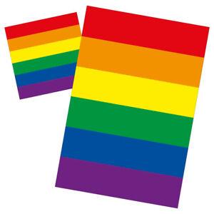Microfaser-Bettwaesche-135-X-200-80-X-80-Regenbogenfarben-CSD-Gay