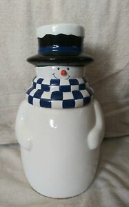 Houston-Harvest-1990-039-s-Snowman-Winter-Christmas-Cookie-Jar