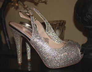 cb57764a702 De Blossom Collection PRINCE David s Bridal Peep Toe Princess Heels ...