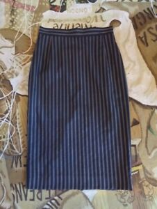 VIVIENNE-WESTWOOD-SS-04-RED-LABEL-STITCHED-STRIPED-STRAIGHT-LONG-SKIRT-SIZE-44