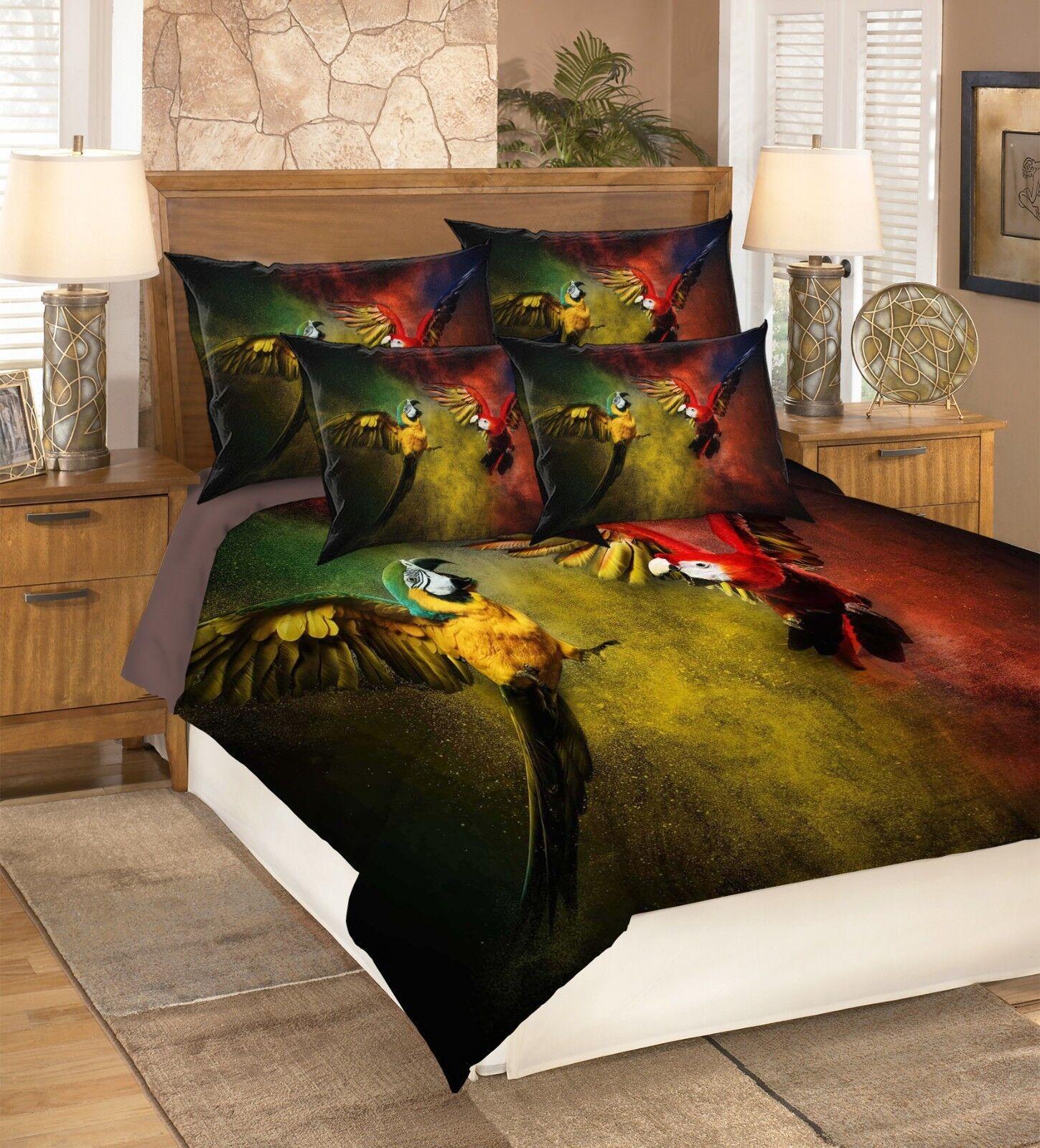3D Colour Parred 53 Bed Pillowcases Quilt Duvet Cover Set Single Queen King AU