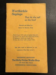 Worthwhile-Sayings-Booklet-from-The-Molly-Pitcher-Waffle-Shop-Depression-ERA