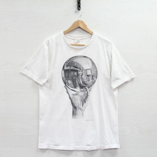 Vintage MC Escher T-Shirt Size Large White 90s Dut