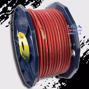details about 8 gauge ofc copper awg red power ground wire car audio  amplifier speaker cable