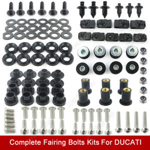Fit For Ducati 848 1098 Stainless Steel Complete Fairing Screws Fasteners Kit