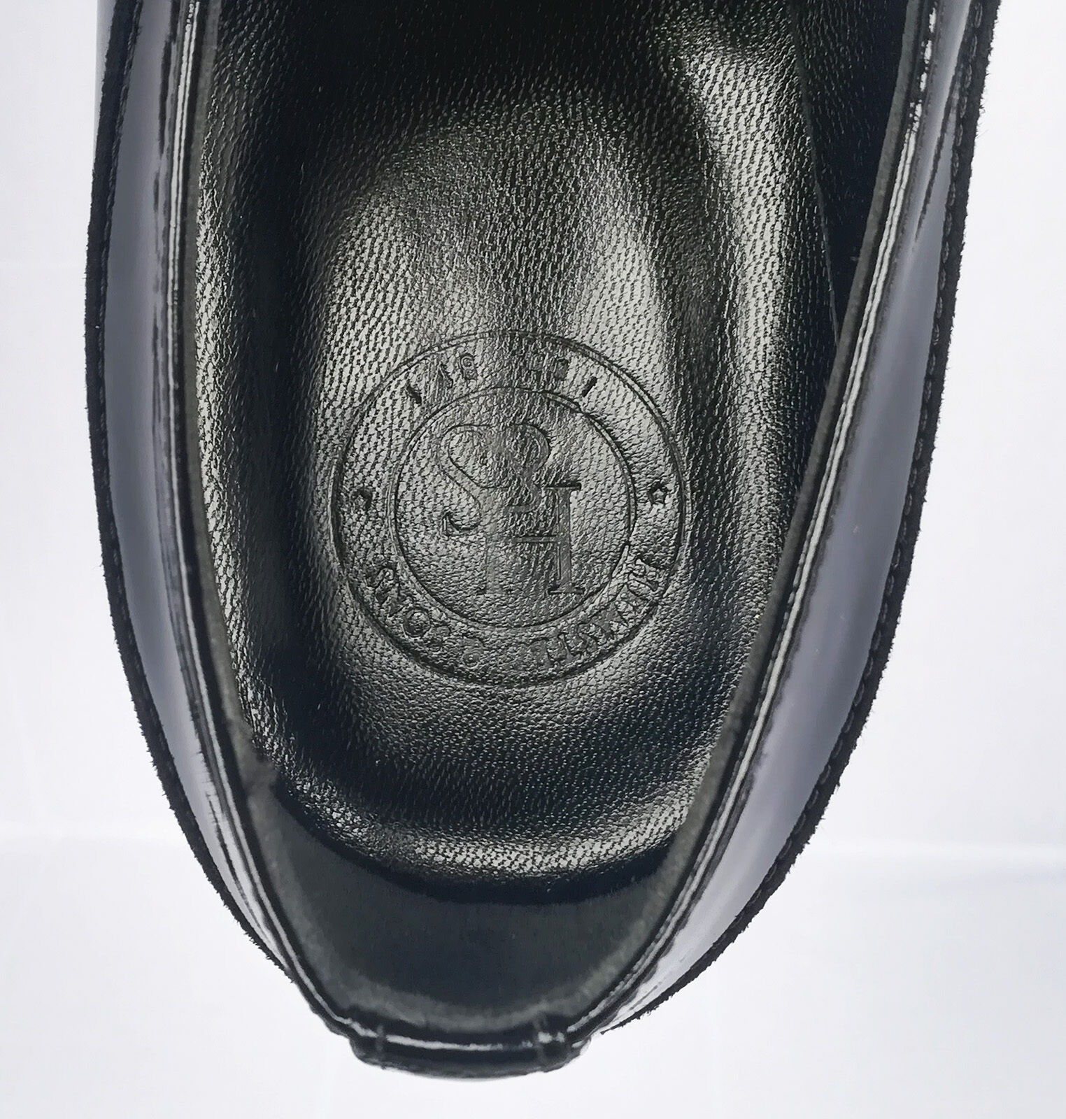 HEMSTED & SONS SONS SONS BLACK LEATHER HAND-MADE. Größe: 45.   . NEU 28f0d3