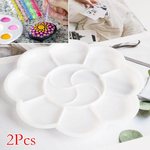 2stk Mischpaletten Runde Farbmischpalette Malpalette Mischmulde Malen Kunststoff