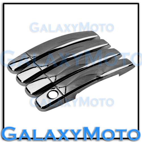 2014-2015 Chevy Silverado Triple Black Chrome plated 4 Door Handle Cover kit 14
