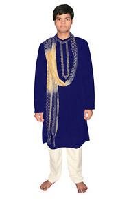 Bollywood Herrenset Indien Orient Blau in 5 Größen verfügbar