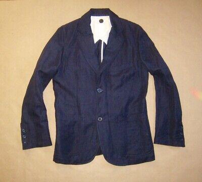 """Herrenmode Begeistert Yamamoto # Linie """"coming Soon"""" # Sakko Men # Navy Linen # Size S M"""