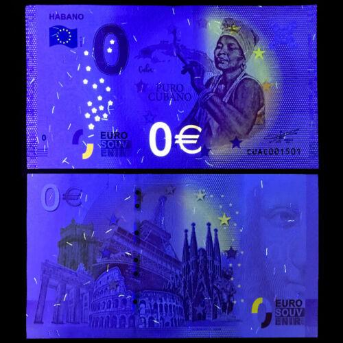 UNC C-127 Havana: 0 Euro Banknote 2019 Zero €