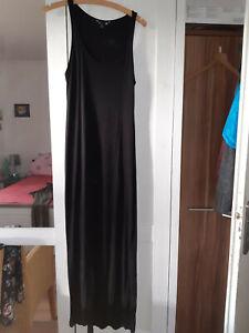 Details zu H&M Damen Kleid Sommerkleid gr S schwarz,lang baumwolle