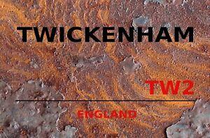 Twickenham TW2 England Motif 2 Tin Sign Shield 20 X 30 CM SM0395