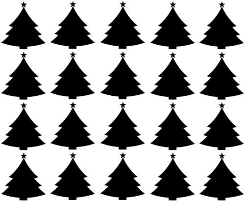 Wall /& Window Decor 20 x Christmas Tree stickers Cardmaking Giftwrapping