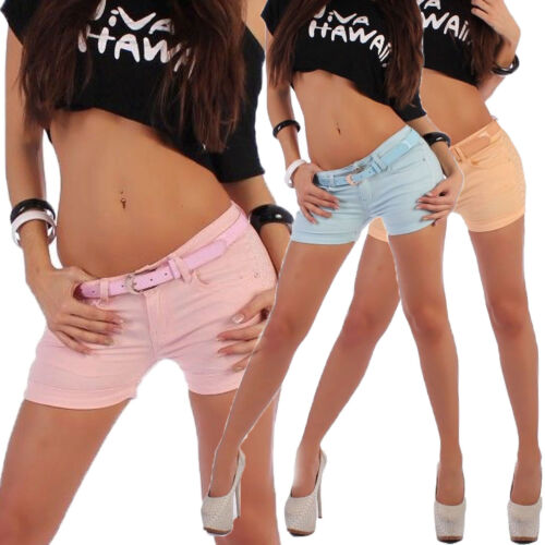 Donna Mutandine Culotte Da Donna Pantaloni Corti Hot Pants hüftjeans Jeans Shorts Shorty b59
