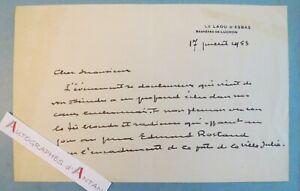 L-A-S-1953-Pierre-de-GORSSE-Bagneres-de-Luchon-a-Maurice-ROSTAND-Toulouse-lettre