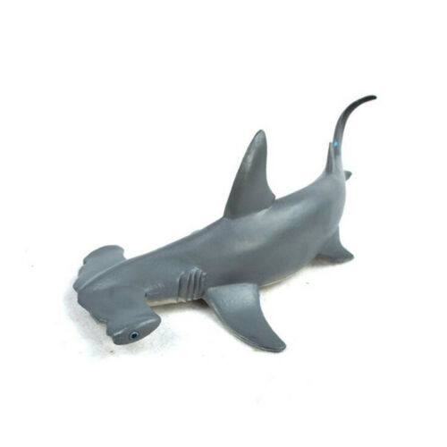 ^18cm Hammerhead Shark Realistic Sea Animal Figure Solid Plastic Toy Gift Model^