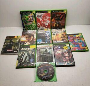 Lot-Of-12-Otiginal-Xbox-Games-No-Sports-Halo-2-Oddworld-Call-of-Duty-Free-Ship