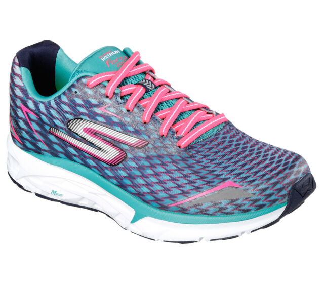 07ca3a427f5c Skechers Go Run Forza 2 Womens Blue Support Running Sports Shoes Trainers  PUMPS UK 4.5