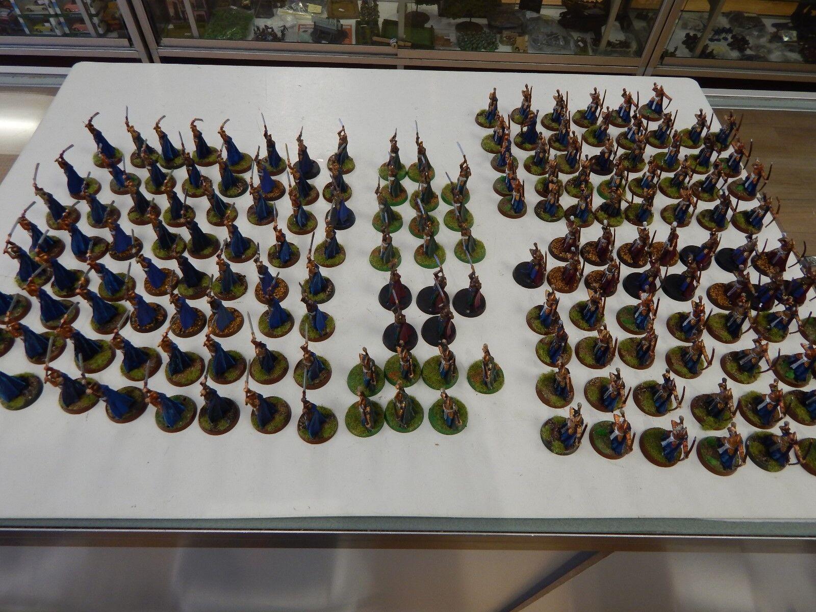 Games workshop señor de los anillos elfos Pintado X 165 figuras de plástico
