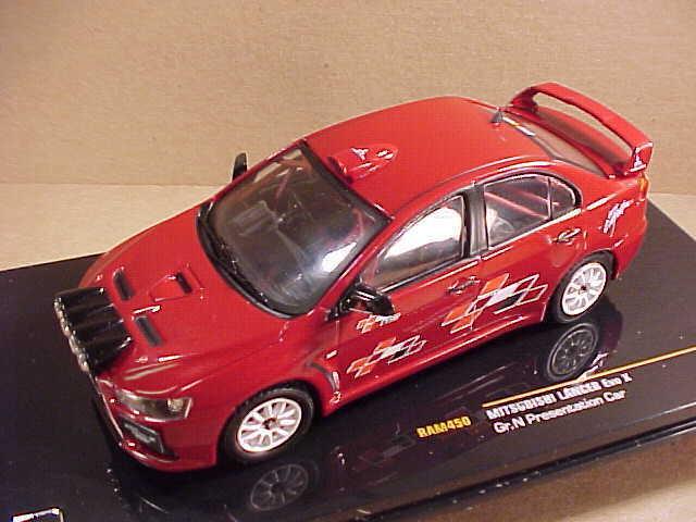 Ixo 1  43 de Metal Mitsubishi Lancer Evo X,2008 Tarmac Presentation Coche \\Ram450