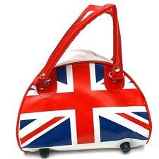 NEW BRITISH UK ENGLAND FLAG UNION JACK PVC HANDBAG PUNK ROCKER PURSE BAG #BAG233