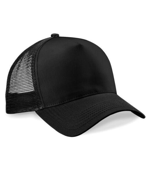 fd0a0c547b4 Beechfield Mens Retro Snapback Adjustable Half Mesh Trucker Baseball Cap Hat
