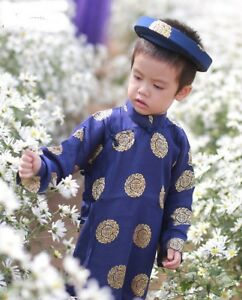Image Is Loading Set Of Ao Dai Khan Dong For Kid