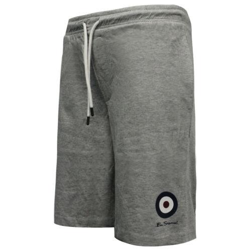 Ben Sherman Mens Target Shorts Training Running Casual Grey 0058688-LG DD8