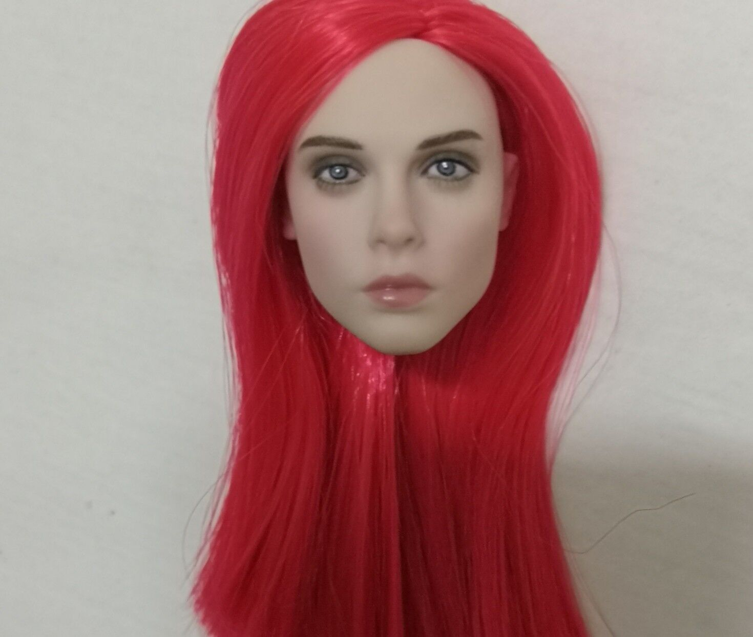 1 6 Scale Female Beauty Red Long Hair Head Sculpt Model F 12  Figure Body Gifts