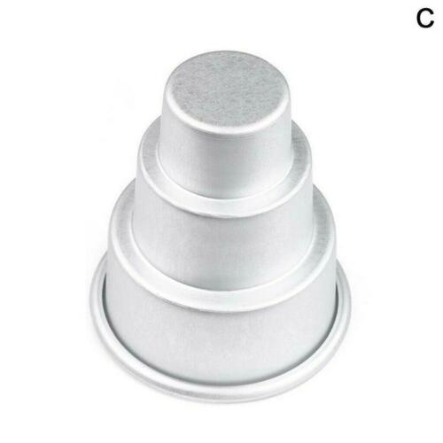 Mini Three-tiered Cake Pan Pudding Molds Muffin Decorating Moulds Kitchen Tools