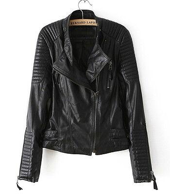 Hot new Women's jackets Short Slim motorcycle leather jacket coat