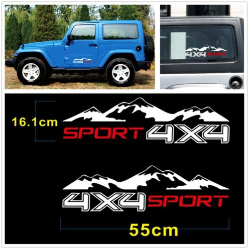 A Pair Of Vinyl 4X4 Mountain Graphic Stickers Decal Body Decoration For SUV JEEP