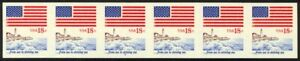 1891a-18c-Flag-Imperf-Plate-5-VF-NH-Strip-of-6