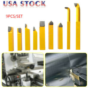 9PCS-8mm-Alloy-Carbide-Brazed-Tipped-Lathe-Tools-Turning-Milling-Welding-Bit-US