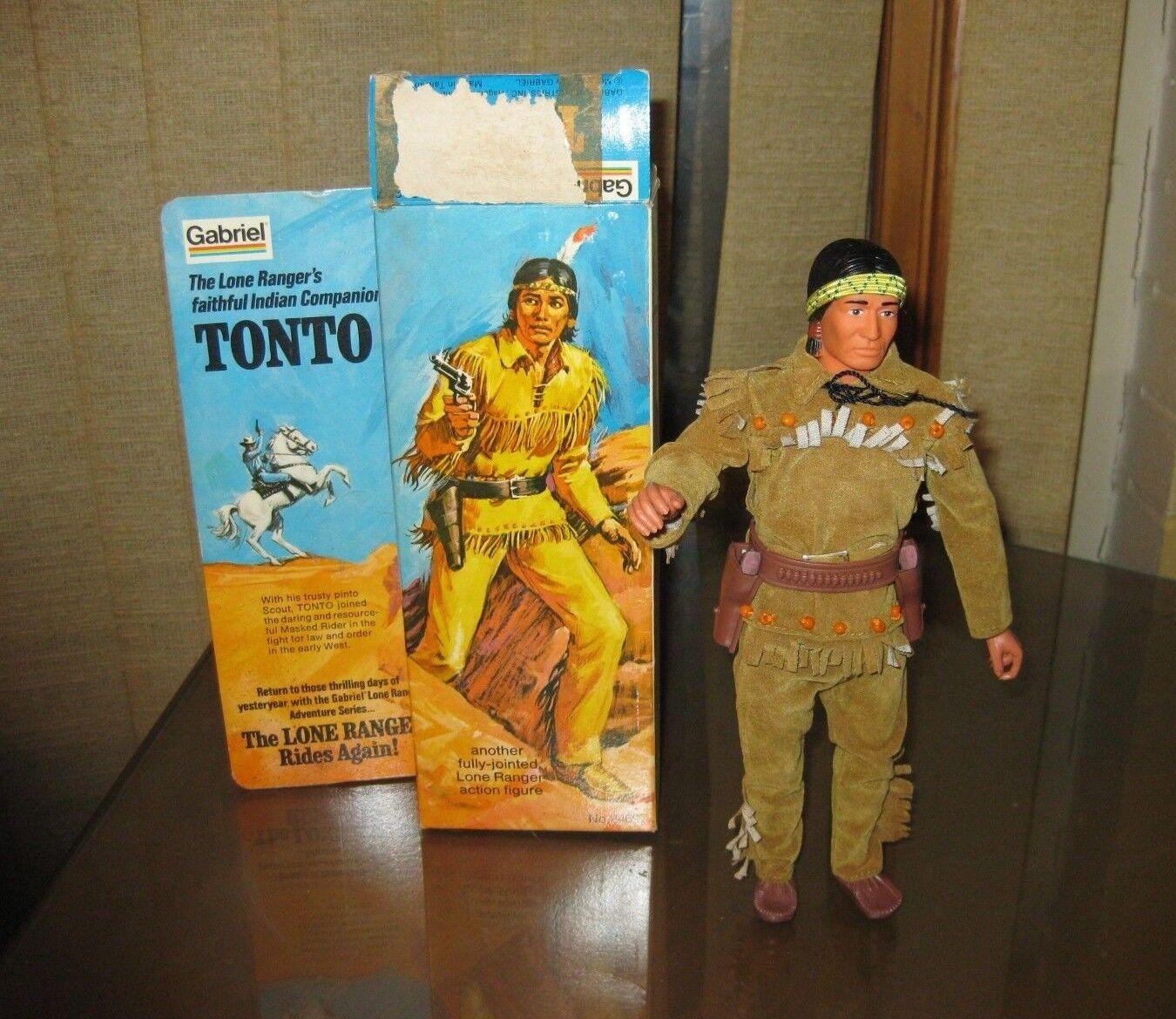 Vintage 1970's Tonto Figure Complete in Original Box Lone Ranger Gabriel