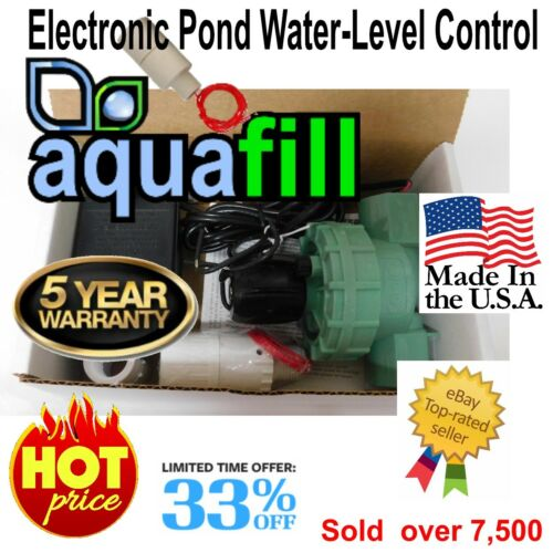 AquaFill Electronic Auto Water Level Float Valve-Pond,Fountain,Pool,Spa,HotTub