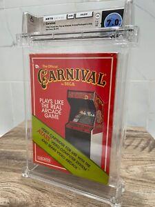 Vintage Carnival Coleco Atari 2600 CIB Video Game! Wata Graded 7.0! 1982