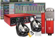 Focusrite Scarlett 2i2 G2 USB Recording Studio Bundle w/ 2 MXL Mics, Pro Tools