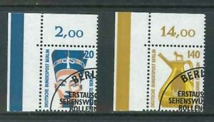 Berlin-Mi-Nr-831-832-Ecke-1-gestempelt-ESST-Bogenecke