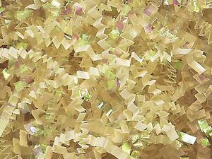 U Choose Size! VANILLA & IRIDESCENT Gift Basket Shred Crinkle Paper Filler
