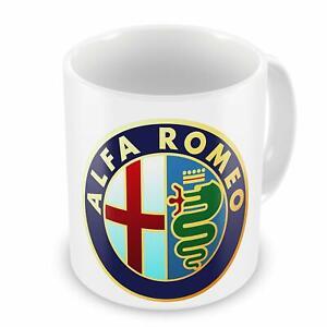 Alfa-Romeo-Car-Tazza-Da-Caffe-Te-Manufacturer-Per-Regalo-Tazza-bianca-11Oz