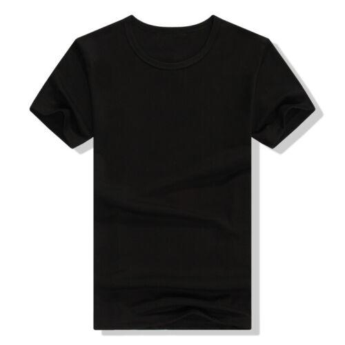 Women Men Casual T-Shirt Short Sleeve Solid Crew Neck Summer Fashion Tops S-3XL