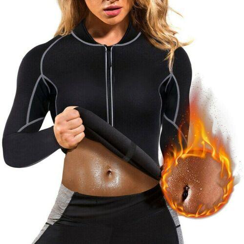 Women Sweat Neoprene Loss Sauna Suit Workout Shirt Body Shaper Fitness Tank Tops