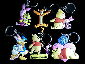 A-Selection-of-Disney-Keyrings-Winnie-the-Pooh-Piglet-Eayore-Tigger-amp-More