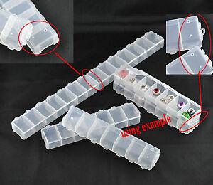 2 Pièce Box Avec Couvercle 7 Compartiments Rangement Pour Perles Tri Sammelbox