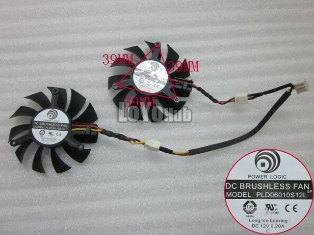 Power Logic PLD06010S12L Graphics card Fan DC 12V 0.2A 4wire 4-Pin Sleeve
